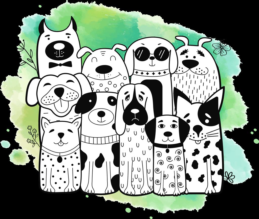 ensemble de chiens