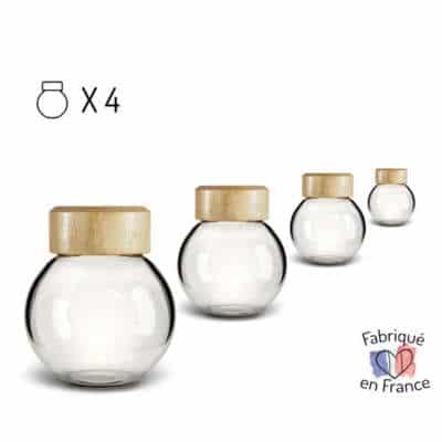 Globes en verre X 4