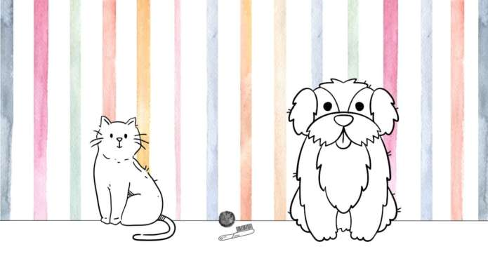 illustration astuces brossage chien chat