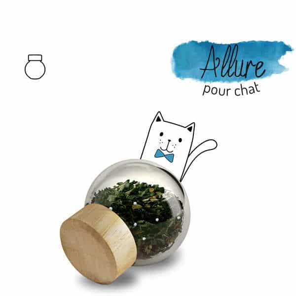 Illustration complément alimentaire allure chat