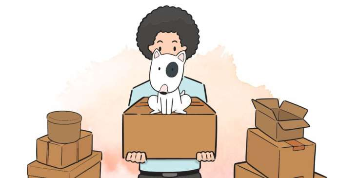 déménagement chien