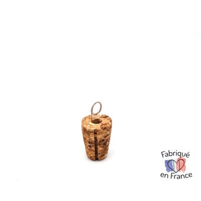 Bouchon verseur liège naturel et plexiglas pour les huiles truffe & moustache, fabriqué en France