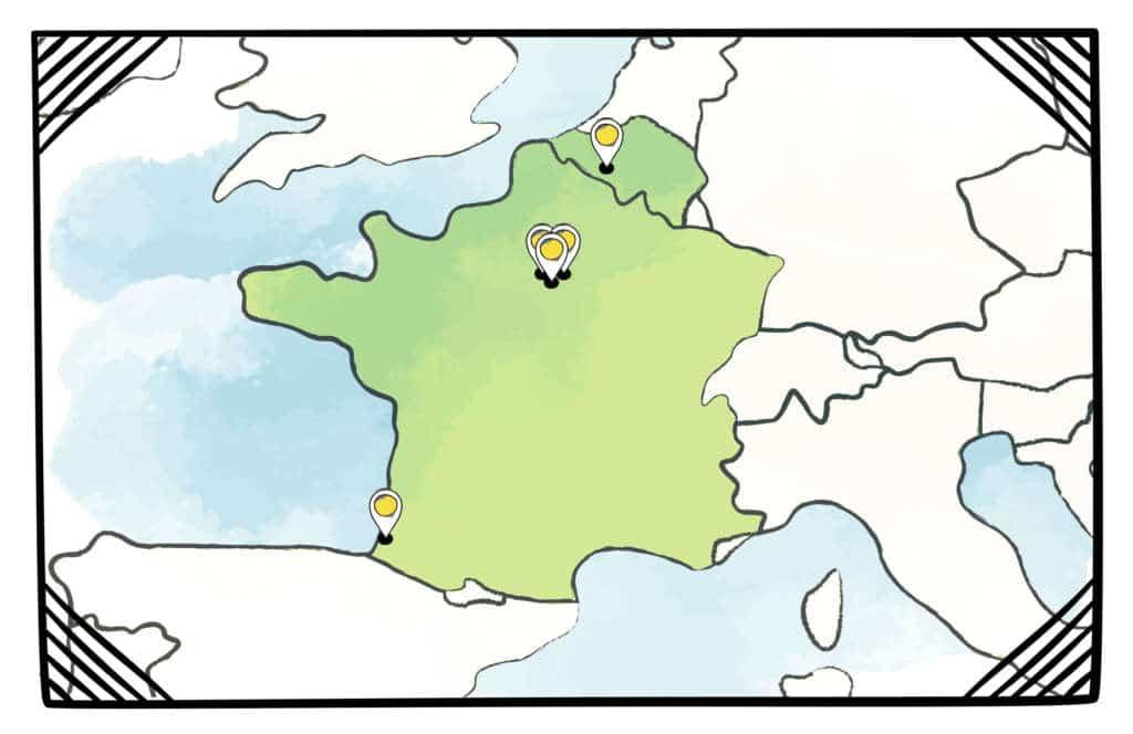 Carte Point de vente boutique revendeur Truffe & Moustache